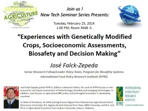 New Tech Talk IFPRI SEC Feb2014